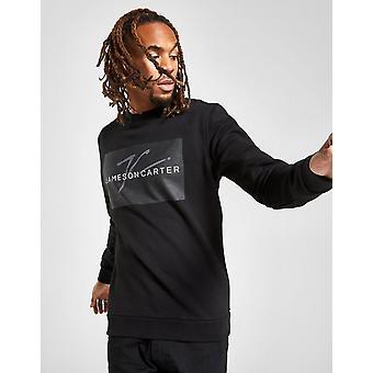 New JAMESON CARTER Men's Box Logo Sweatshirt Black