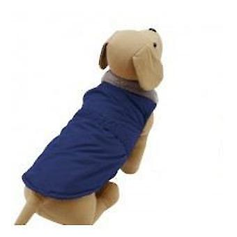 Yagu ブルーのウインドブレーカー (犬、犬服レインコート)