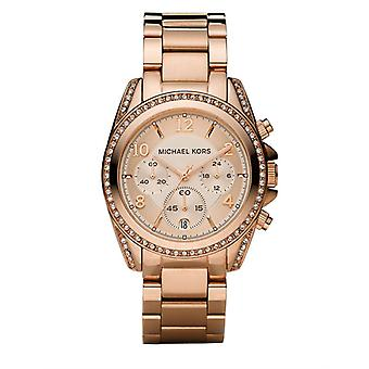 Michael Kors Ladies' Blair Chronograph Watch - MK5263 - Rose