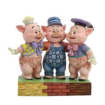 Jim Shore vinkua sisarukset Silly Symphony kolme pientä sikaa hahmo