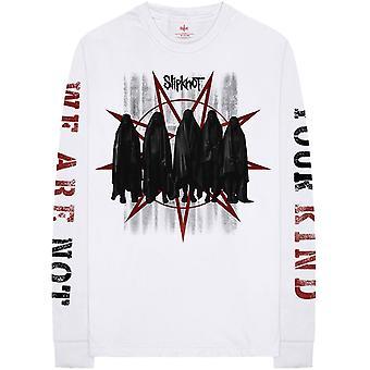 White Slipknot Shrouds Longsleeve Official Tee T-Shirt Mens Unisex
