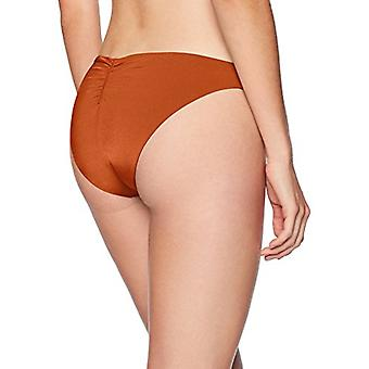 Bikini Lab Junior's Cinched Back Hipster Bikini Swimsuit Bottom, Sienna, Large