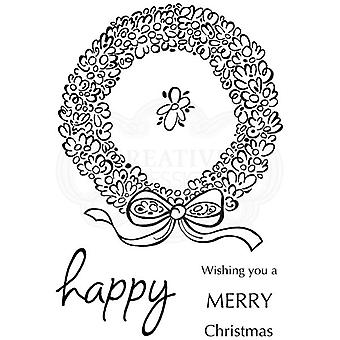 Woodware Polymer Stamp Clear Singles Loopy Wreath | Set of 4