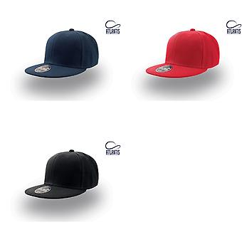 Atlantis Children/Kids Flat Visor 6 Panel Snap Back Cap (Pack of 2)