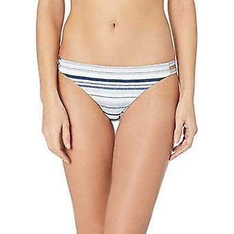 Splendid Women's Double Strap Swimsuit Bikini Bottom, line of, Blue, Size Medium
