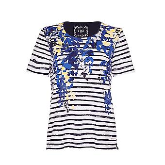 TIGI Floral Striped T-Shirt