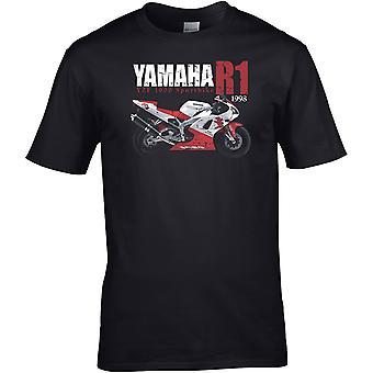 Yamaha R1 YZF 1000 Classic - Motor motormotor - DTG geprint t-shirt