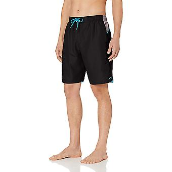 "Nike Swim Men's Color Surge 9"" Volley Short Swim Trunk, Black, Medium"