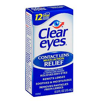 Clear eyes contact lens relief soothing eye drops, 0.5 oz
