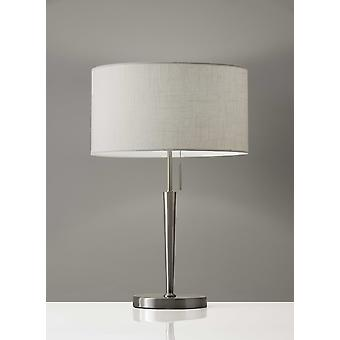 Contemporary Brushed Steel Metal Table Lamp