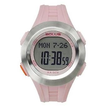 Solus Ladies Digital LCD Dial Date Backlight Pink PU Casual Watch SL-101-004