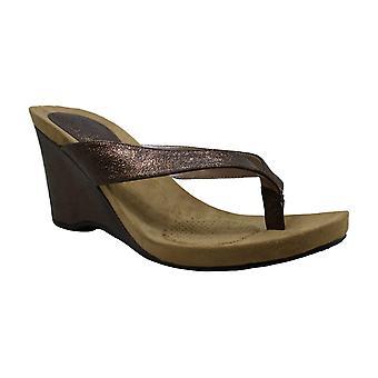 Style et Cie Femmes Chicklet2 Cuir Split Toe Casual Slide Sandals