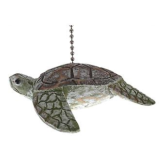 Tropical Ocean Reef Sea Turtle Ceiling Fan Pull Chain Wooden Three Dimensional