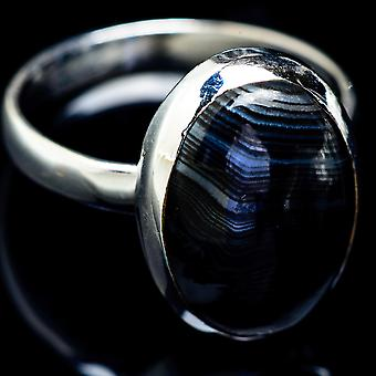 Psilomelane Ring Size 11.75 (925 Sterling Silver)  - Handmade Boho Vintage Jewelry RING5196