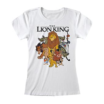 Disney The Lion King Distressed Group Sketch Women's Fitted T-Shirt | Official Merchandise
