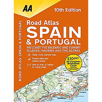 AA Road Atlas Spain & Portugal - 9780749581138 Book