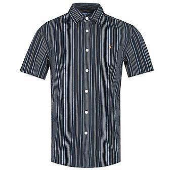 Farah Galena Striped True Navy Short Sleeve Shirt