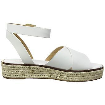 Michael Kors Women's Abbott White Leather Sandal