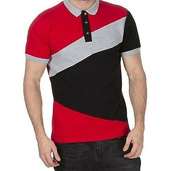 Herren Streifen Pique Polo Shirts