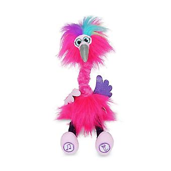 sassimals flossi the flamingo soft toy with songs and sounds for ages 3+