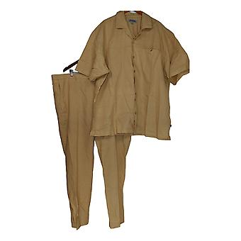 Stacy Adams Men's Morning Suits Suit Big & Tall Men's Linen Set Tan Brown