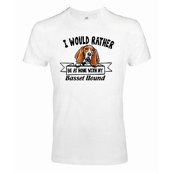 Basset Hund Kikande Hund T-shirt - Eher mit...