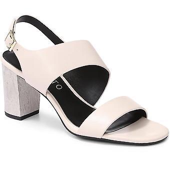 Staccato Femme Block Heel Cuir Sandale