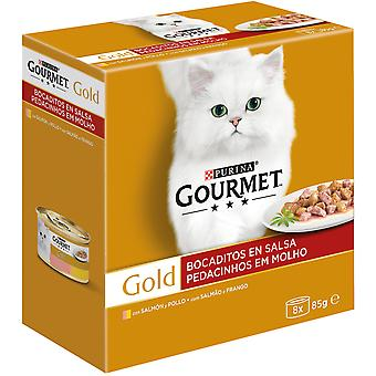 Gourmet With Salmon and Chicken in Gravy (Cats , Cat Food , Wet Food)