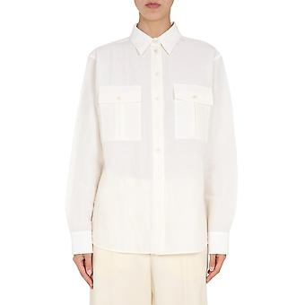 Jil Sander Jscr600005wr330800104 Women's White Linen Shirt