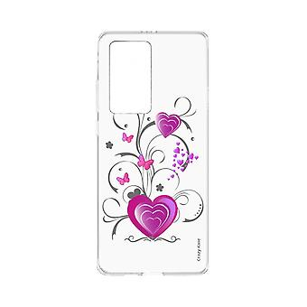 Hull For Huawei P40 Pro Soft Heart And Butterfly