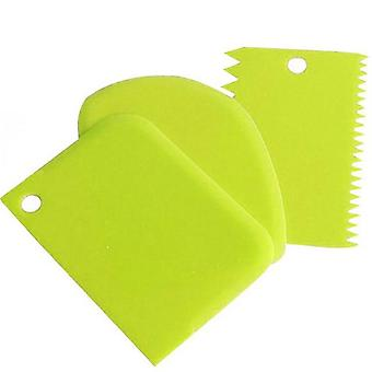 3pcs/lot Dough Cake Cutter- Silicone Spatula For Cake  Patisserie