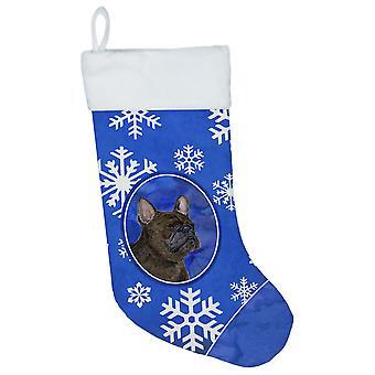 Carolines Treasures  SS4657-CS French Bulldog Winter Snowflakes Christmas Stocki