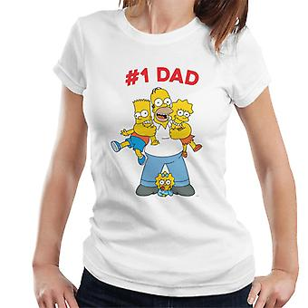 The Simpsons Cuddle Number One Dad Women's T-Shirt