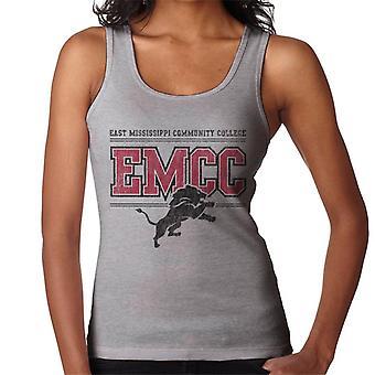 East Mississippi Community College Dark Distressed Lion Logo Women's Vest