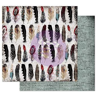 Prima Marketing Midnight Garden 12x12 Inch Sheets Feather Collector