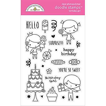 Doodlebug Design Birthday Girl Doodle Stamps