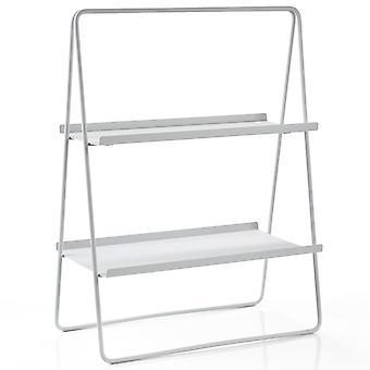 Zone Regal A-Table Soft Grey / gris clair étagère en acier H 75 cm