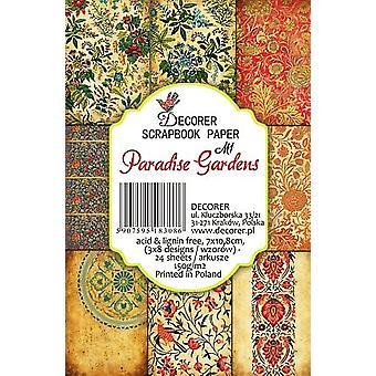 Decorer Paradise Gardens Paper Pack (7x10.8cm) (M1)