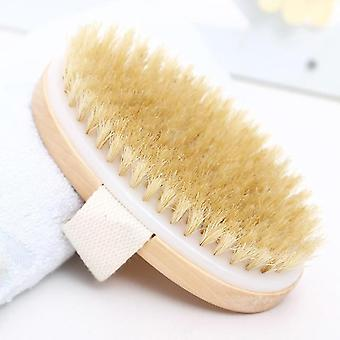 Hot Dry Soft Natural Wooden Bristle Spa Body Brush Without Handle