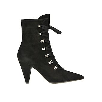 Gianvito Rossi Ezgl075006 Women's Black Suede Ankle Boots