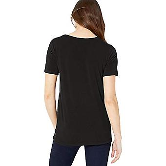 Brand - Daily Ritual Women's Jersey Short-Sleeve Scoop Neck Shirt, black, X-Large