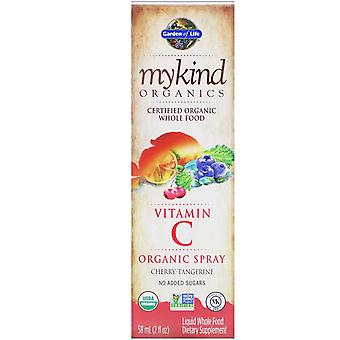 Tuin van het Leven, MyKind Organics, Vitamine C Organic Spray, Cherry-Tangerine, 2 fl