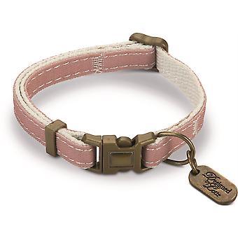 Conçu par Lotte Nylon Cat Collar - Virante Light Pink - 10mm x 20-30cm