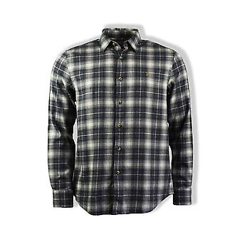 Farah Bushell Check Long-Sleeved Shirt (Grey)