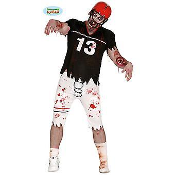 Jogador de futebol zumbi senhor fantasia Halloween horror dos atletas mortos-vivos