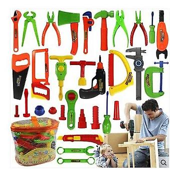 Kit Children Play House Classic Plastic Kids Tools Hammer Toolbox Simulation Tool Kit Toys