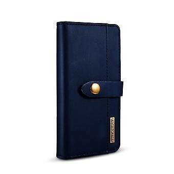 Caso móvel para o iPhone 7/8 com escudo magnético - couro autêntico