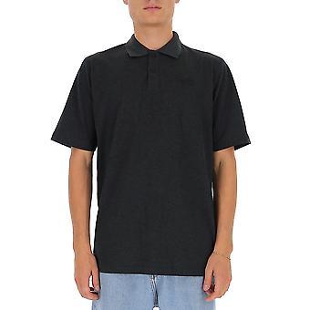 Y-3 Gk4512chamel Männer's grau Baumwolle Polo Shirt