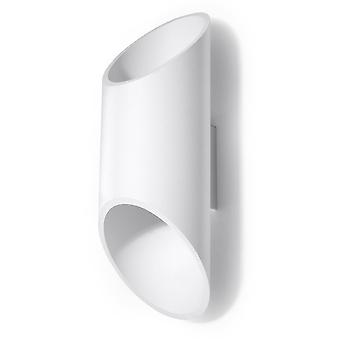 1 Light Up Down Wall Light White, G9