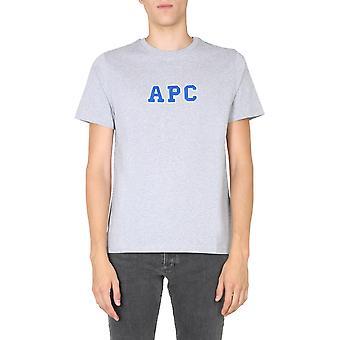 A.p.c. Coeikh26924pla Men's Grey Cotton T-shirt